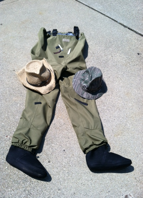 hats and waders